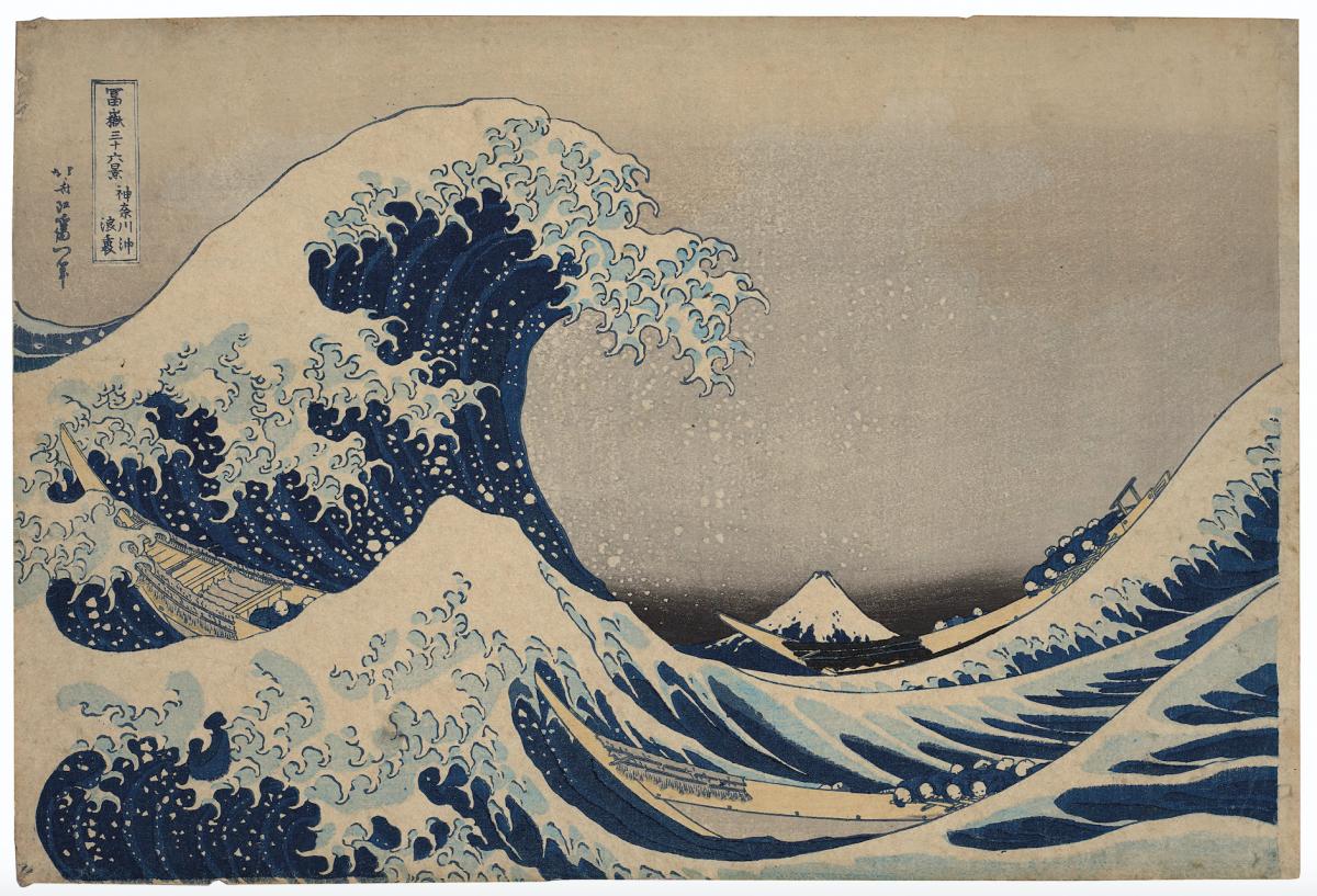 """1,6 milioni di dollari. L'""""onda"""" di Hokusai record da Christie's New York"""