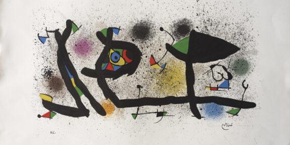 Lotto 162. Joan Mirò, cm 54,5 x 75,7, stima 900 – 1.100 euro