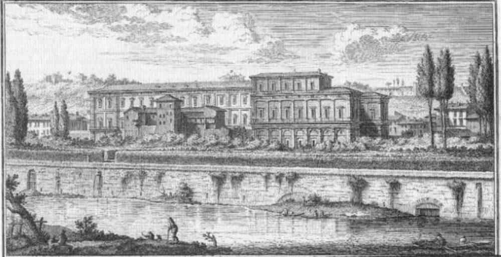 La Farnesina in un'incisione di Giuseppe Vasi