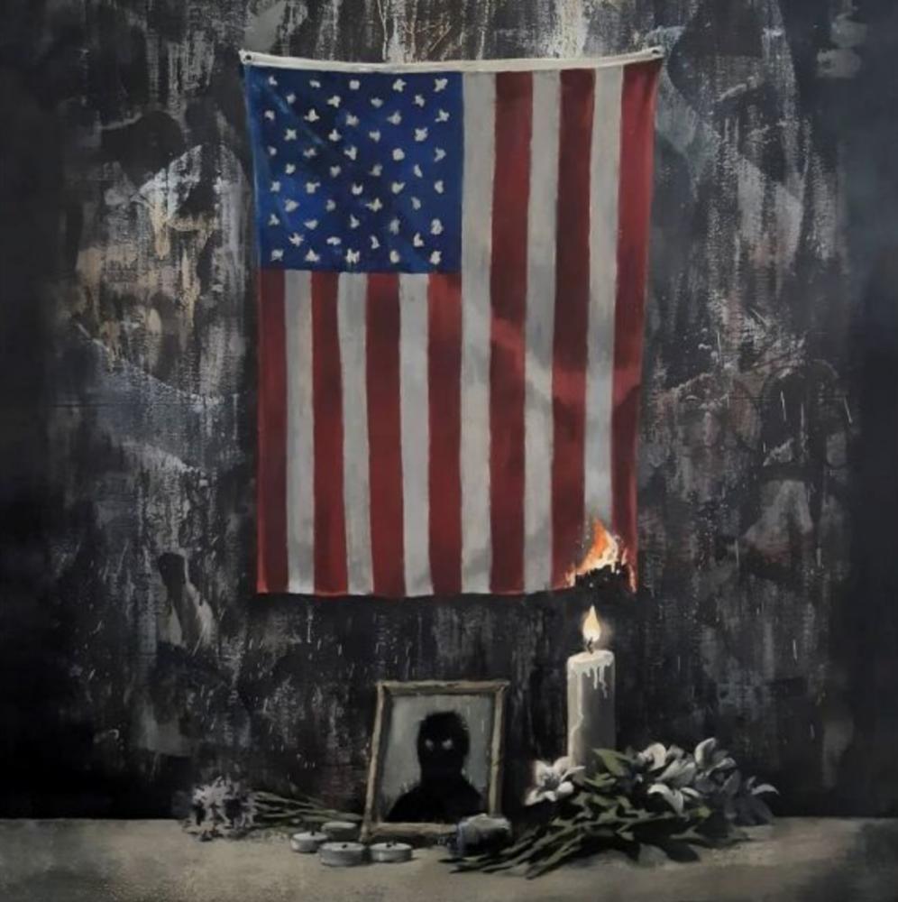L'omaggio di Banksy a Gearge Floyd