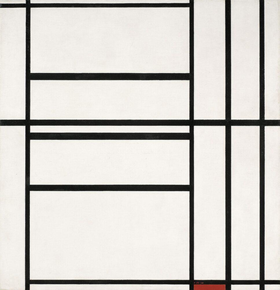 Composizione n. 1 con grigio e rosso 1938 / Composizione con rosso 1939 (1938 – 1939)