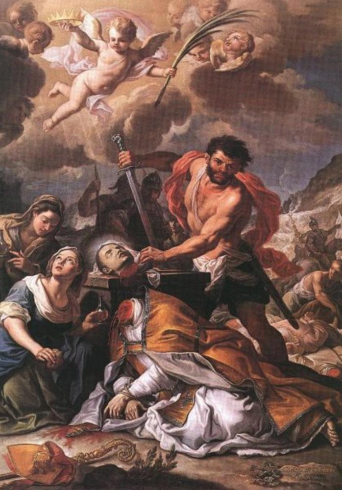 Martirio di San Gennaro, Girolamo Pesci, 1727