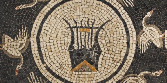 Mosaico con cigni e lira, particolare - fine I sec. a C. - inizi I sec. d.C - foto Carlo Vannini