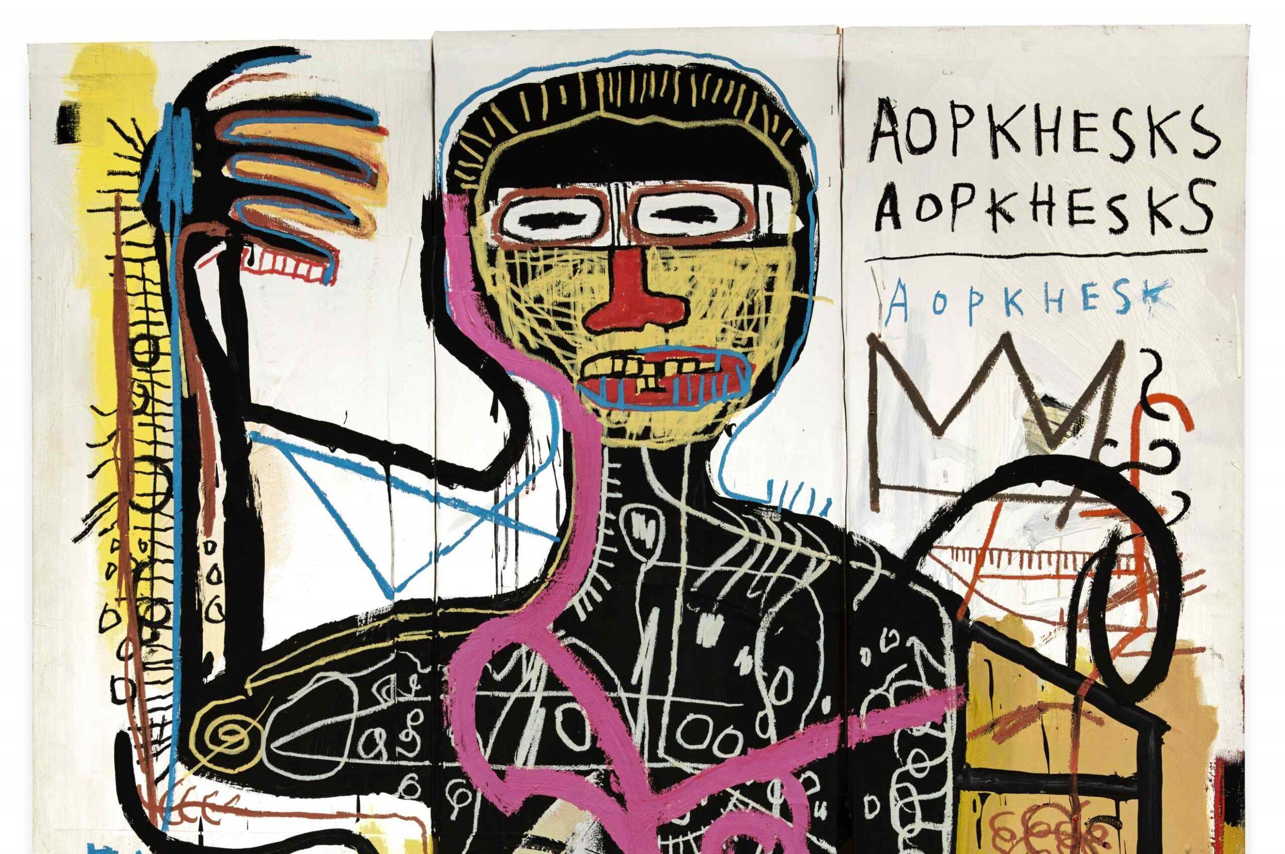 Basquiat in aria di record. Sotheby's porta all'asta il grande dipinto Versus Medici