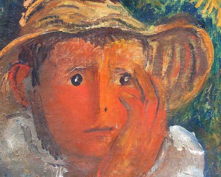 Osvaldo Licini, Pastorello con la mano sulla guancia, 1925 (particolare)