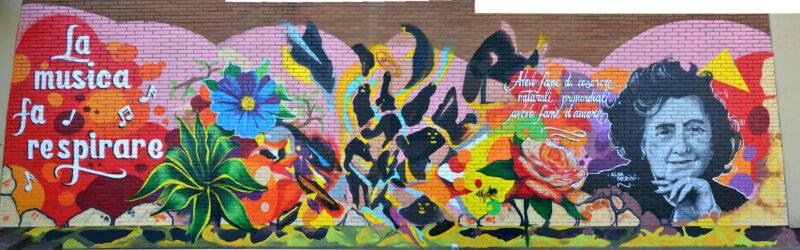 Il murale dedicato ad Alda Merini