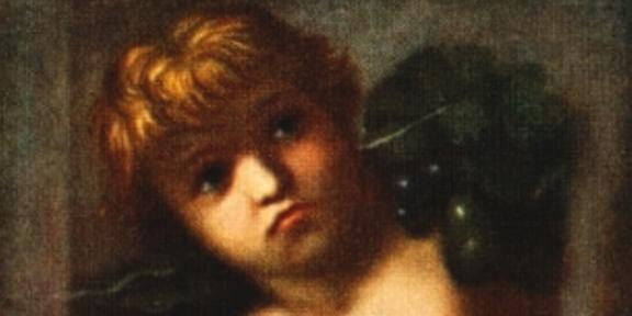 Particolare del Putto reggifestone dell'Accademia di San Luca