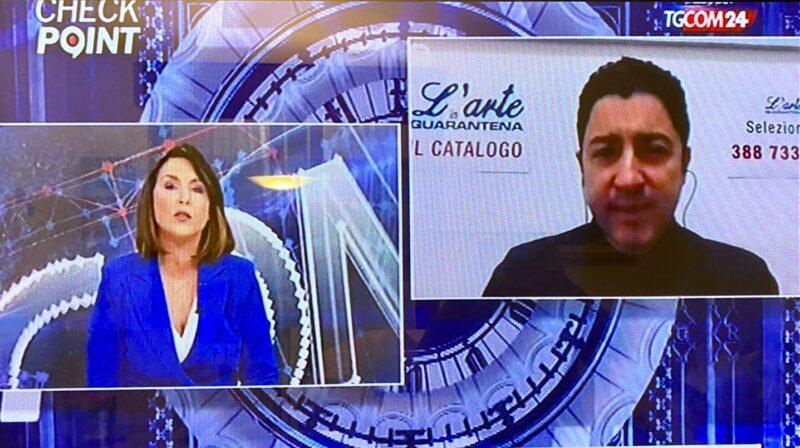 Salvo Nugnes interviene al Tgcom24 per presentare il catalogo L'Arte in Quarantena