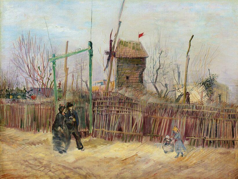 Vincent van Gogh, Scène de rue à Montmartre, 1887, olio su tela