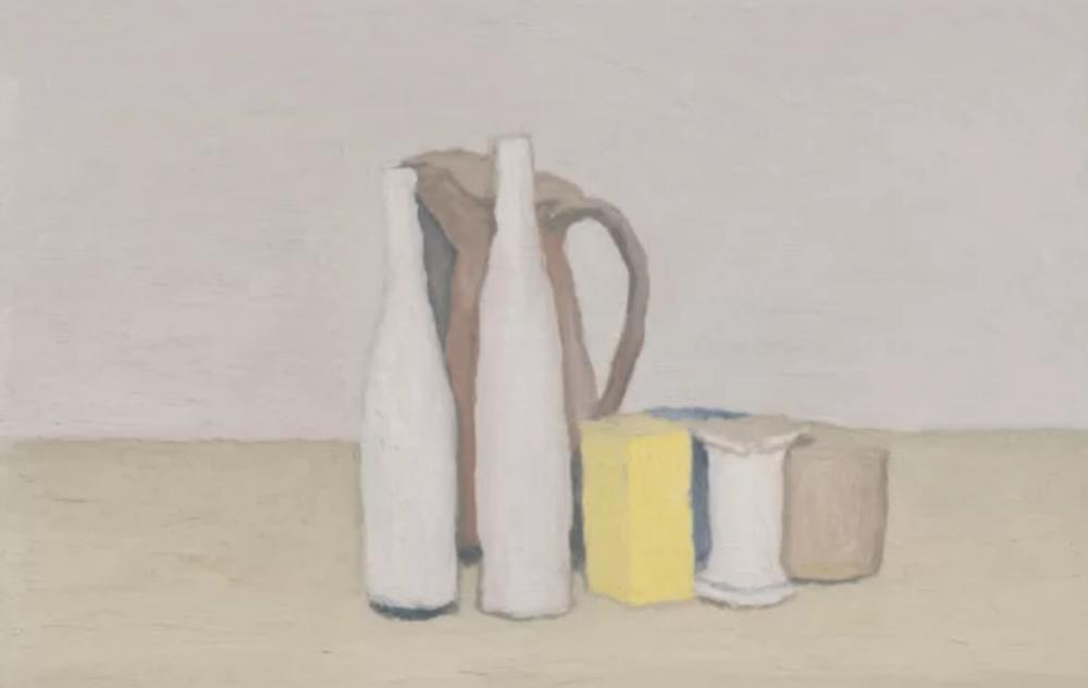 Giorgio Morandi, Natura morta, olio su tela, 1952