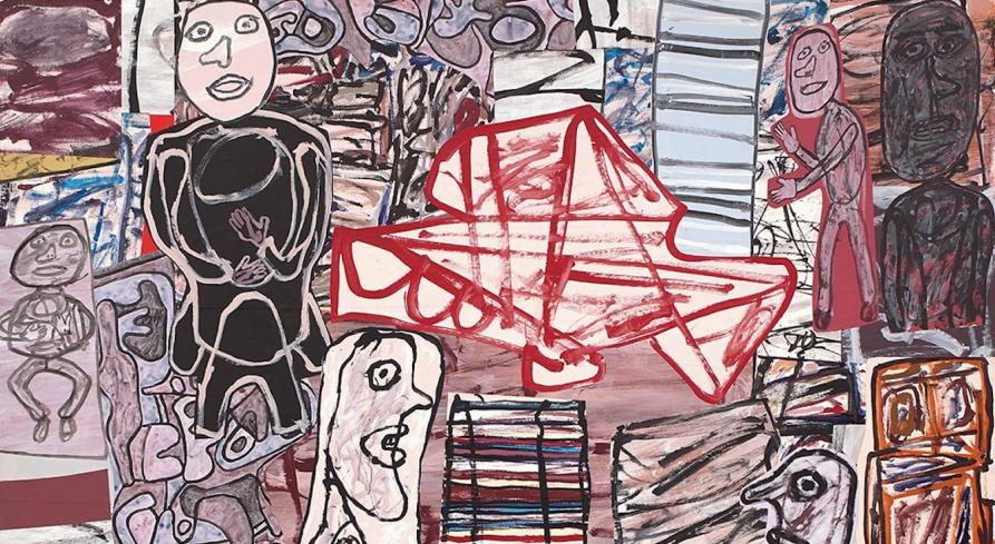 Art brut monumentale. Una grande tela di Jean Dubuffet è in asta da Phillips