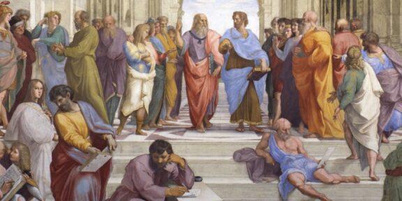 Stanze di Raffaello, La scuola di Atene, particolare