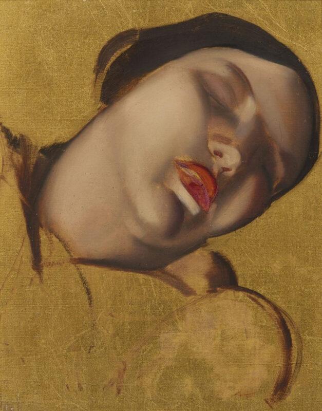 Tamara de Lempicka, Figure esquissée sur fond doré. Stimato £ 1,5 milioni ($ 1 milione)