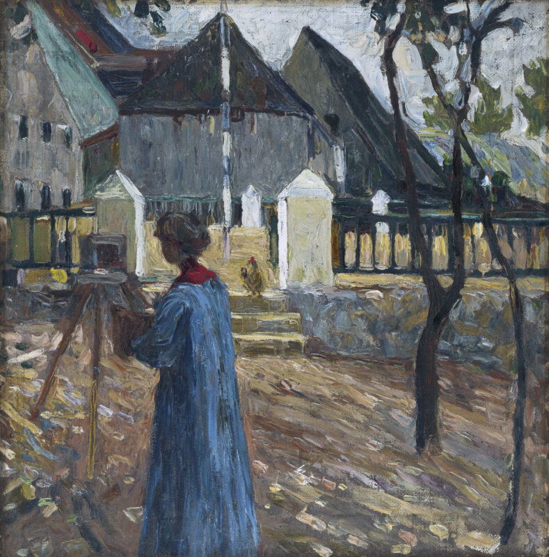 Vassily Kandinsky, Gabriele Münter mentre dipinge a Kallmünz