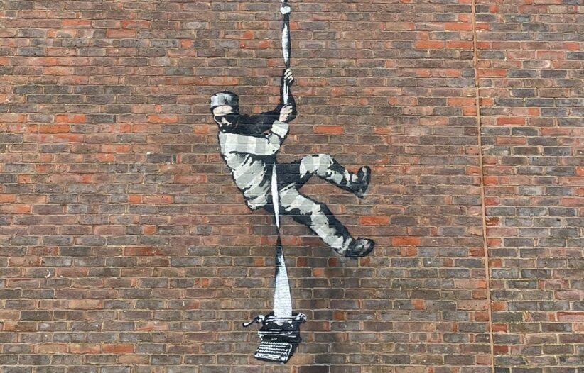 Banksy murale dal carcere di Reading