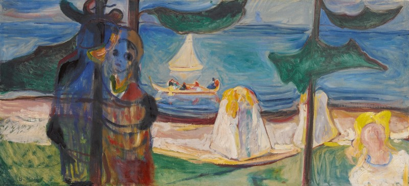 Edvard Munch, Summer Day or Embrace on the Beach (The Linde Frieze). Estimate: 9,000,000 - 12,000,000 GBP