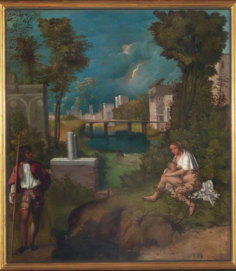 Giorgione, Tempesta, (1502-1503), olio su tela, 83x73 cm, Galleria dell'Accademia, Venezia