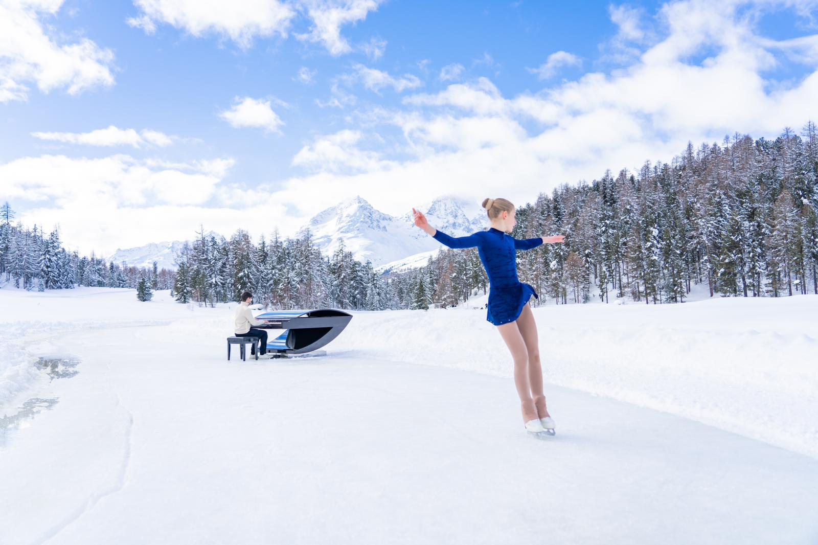 Ice Waves: il pianista Alessandro Martire incanta con 'Heart' sul lago ghiacciato di Staz. Intervista