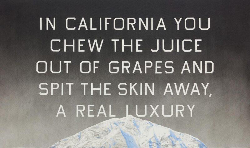 Ed Ruscha, California Grape Skins, Estimate: 2,200,000 - 2,800,000 USD