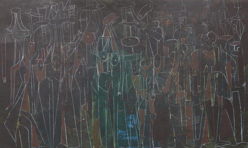George Condo, Black Standing Figures. Estimate: 700,000 - 1,000,000 USD