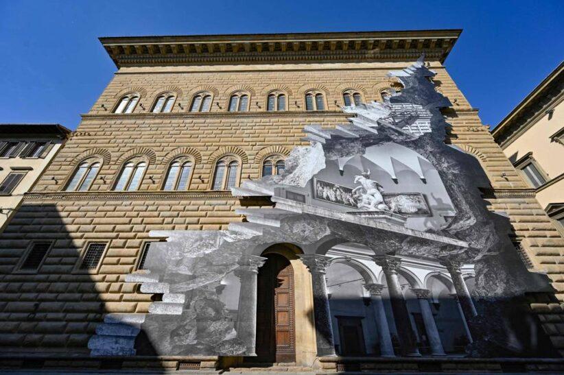 JR a Palazzo Strozzi (foto del corsera)