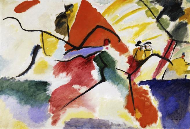 Vassily Kandinsky, Composition VII, 1913, huile sur toile, 200 × 300 cm/©Wikimedia Commons/domaine public / Vassily Kandinsk