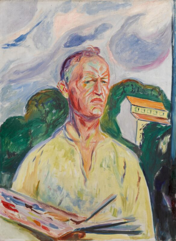 Edvard Munch, Self-Portrait with Palette. Estimate: 4,500,000 - 6,500,000 GBP