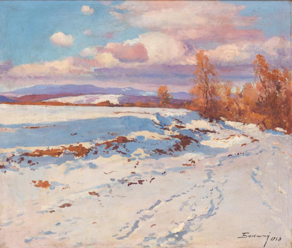 Josif Josifovich Bokshay, Paesaggio invernale. Lotto 24, stima 3.000 – 3.500 euro