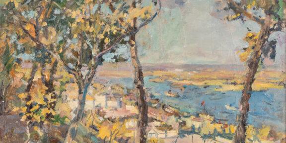 Ilya Nissonovich Shtilman (1902-1966), Veduta di città dalle alture. Venduta a 9.475 euro (lotto 57)