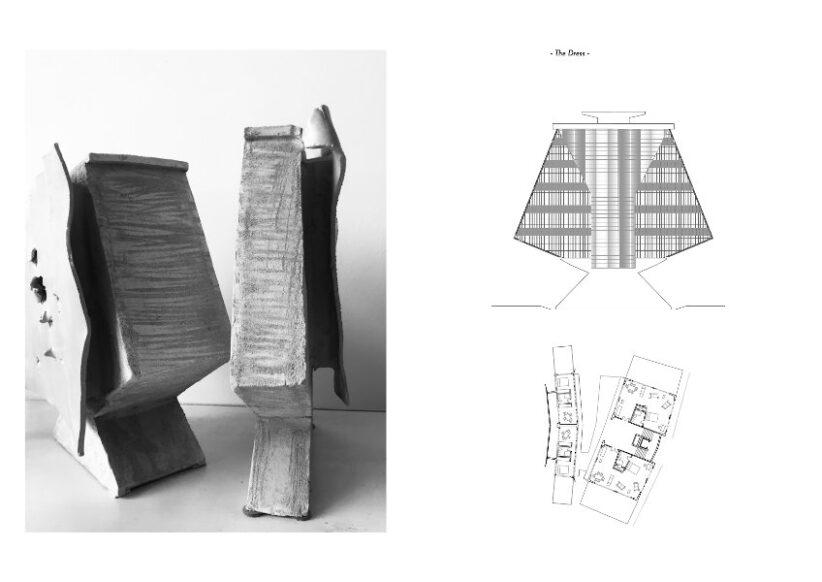 Giulia Tubelli, The Story of Mr K & Mr B. The dress, 2009. Ceramica smaltata, h 60 cm Courtesy l'artista