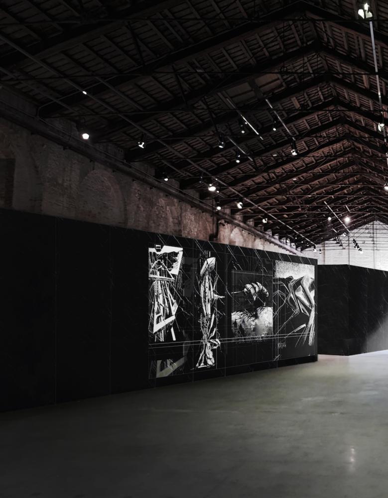 """Padiglione Italia. Installazione curatoriale """"Cyberwall I"""""""