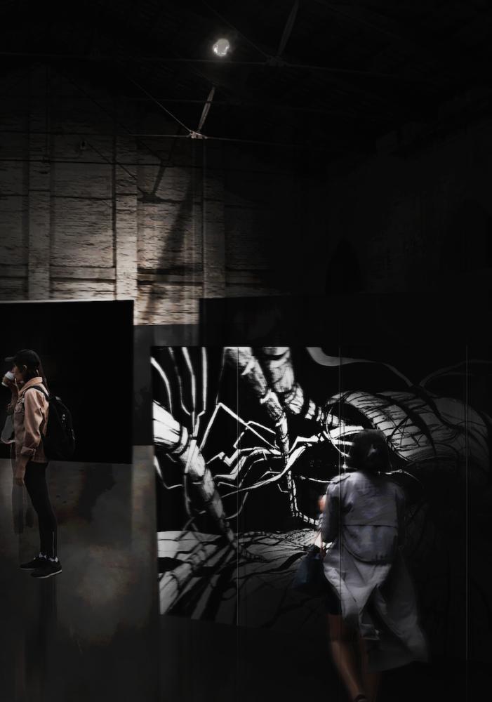 """Padiglione Italia. Installazione curatoriale """"Cyberwall II"""""""