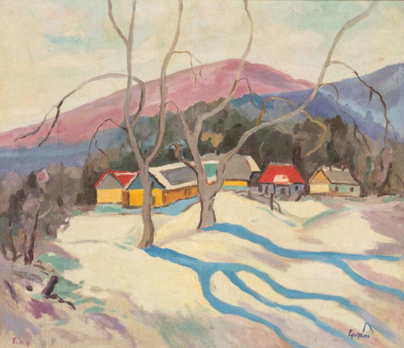 Adalbbert Mikhailovich Erdely, Paesaggio invernale. Lotto 61, stima 2.000 – 3.000 euro