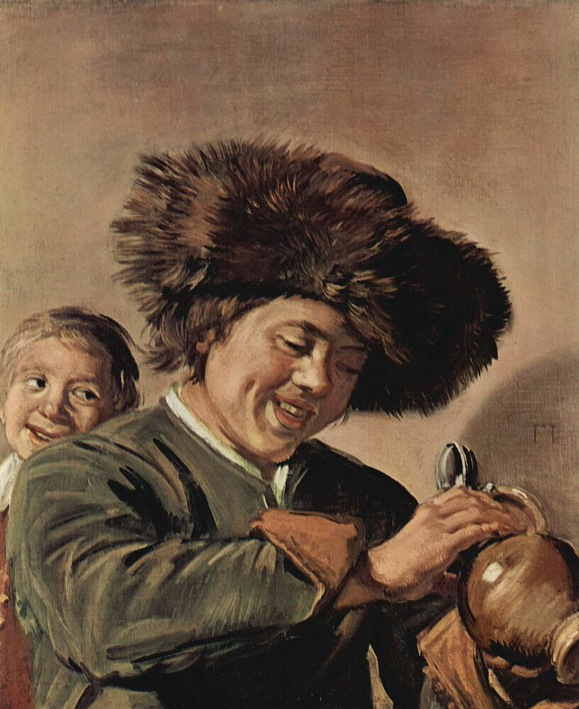 Frans Hals, Two Laughing Boys with a Mug of Beer (c.1626)