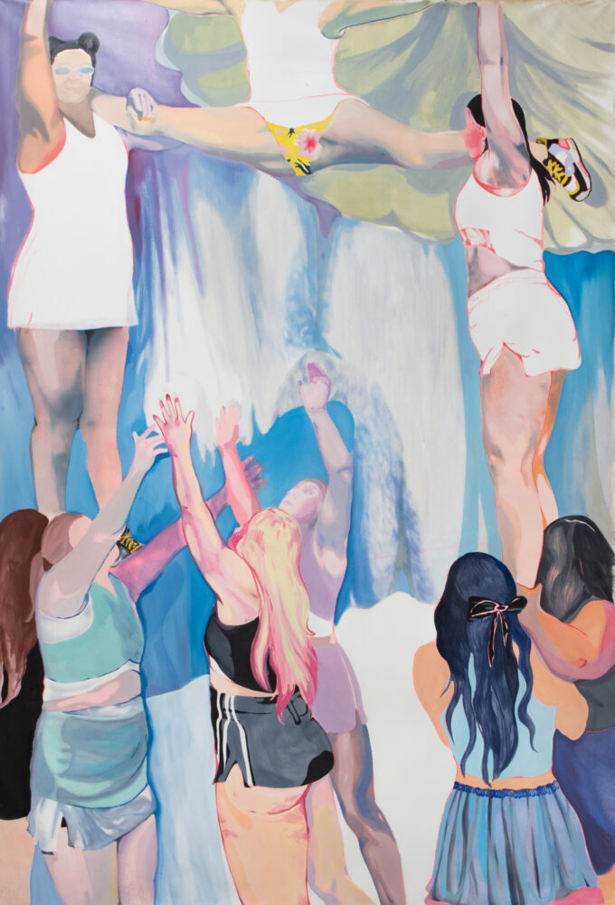 Adelisa Selimbašć, Cheerleader, 324x220cm, olio su tela, 2021
