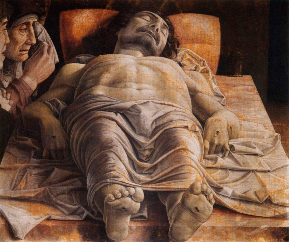 Andrea Mantegna, Cristo morto, Pinacoteca di Brera, Milano