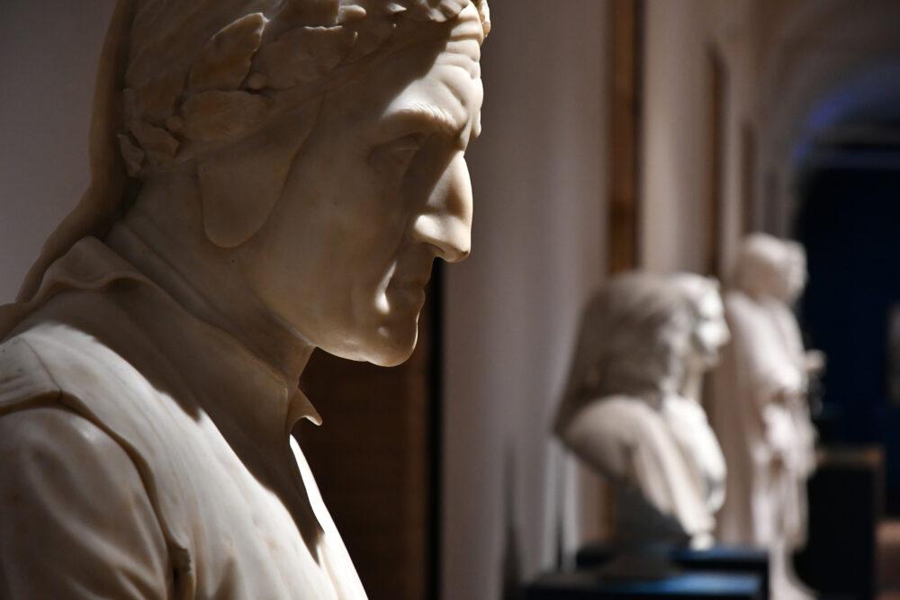 SEZIONE 5 IL CULTO CIVILE. DAL RISORGIMENTO ALLA PRIMA GUERRA MONDIALE ALESSANDRO D'ESTE Busto di Dante, 1813 Roma, Musei Capitolini, Protomoteca Capitolina Foto: Fabio Blaco