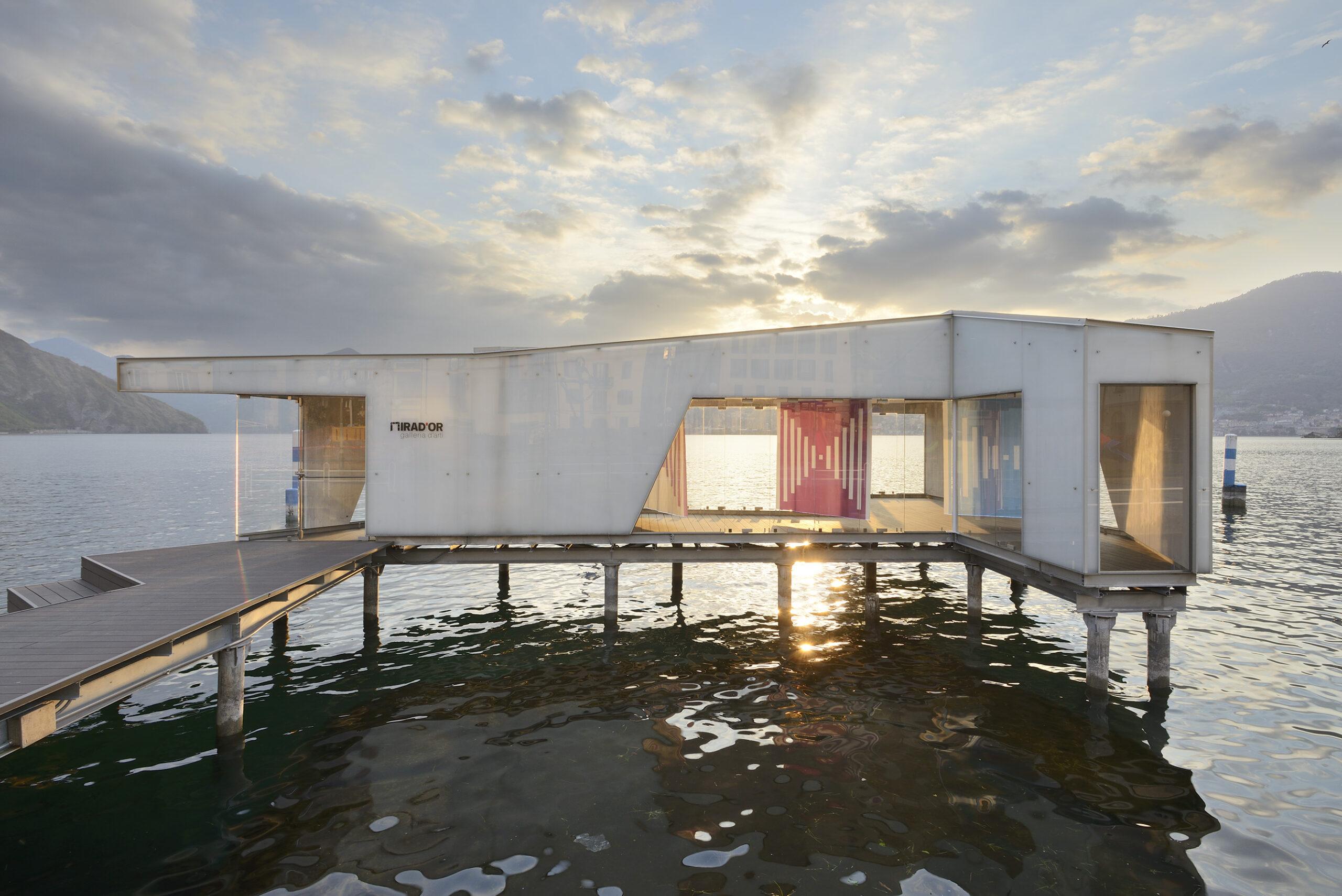 """Dopo Christo, Daniel Buren. La grande arte torna a """"navigare"""" sul Lago d'Iseo"""