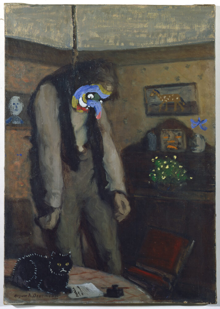 Asger Jorn Ainsi on 's'Ensor (Out of this World — after Ensor) , 1962 oil on canvas (disfiguration, older painting) 60.5 x 43 cm Museum Jorn, Silkeborg Inv. 1974 - 0221 Image: © Donation Jorn, Silkeborg