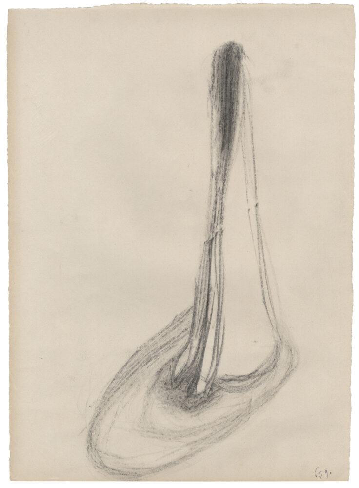 Giacinto Cerone, Disegno su carta, 1990, Tecnica mista su carta, Courtesy Galleria Corraini