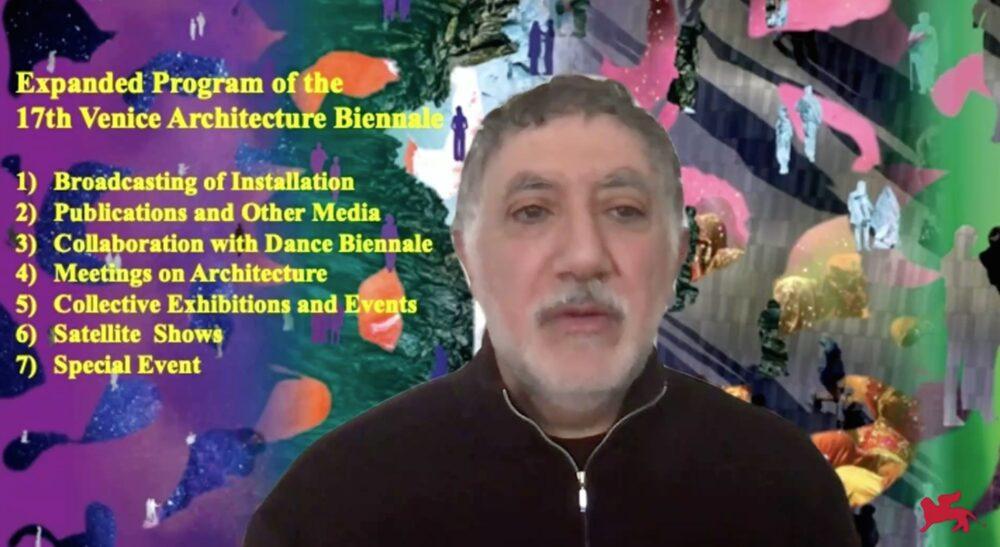 Il Curatore della 17. Mostra Internazionale di Architettura Hashim Sarkis