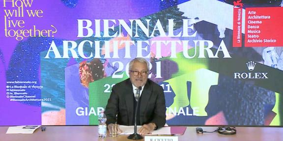 Il Presidente della Biennale di Venezia Roberto Cicutto