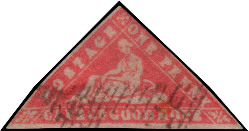 """Lotto 2090 CAPE OF GOOD HOPE 1861 """"Woodblock"""". 1d. vermilion Provenienza: Collezione Romano Padovan Valutazione € 300 -400"""