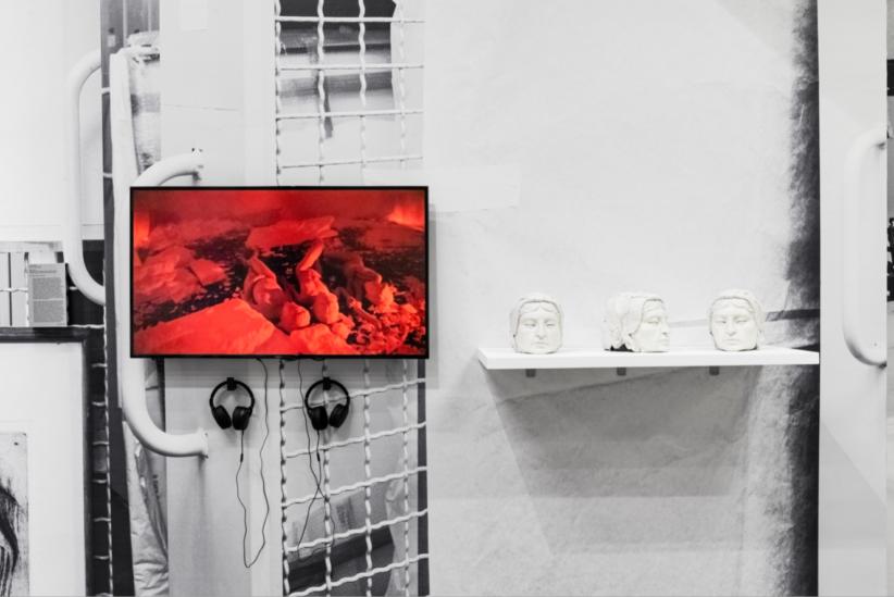 Carola Bonfili, Polia, 2019, masks, latex, video 4K, 16'42'' - Courtesy the artist and Macro Roma, ph. Agnese Bedini and Melania Dalle Grave by DSL Studio