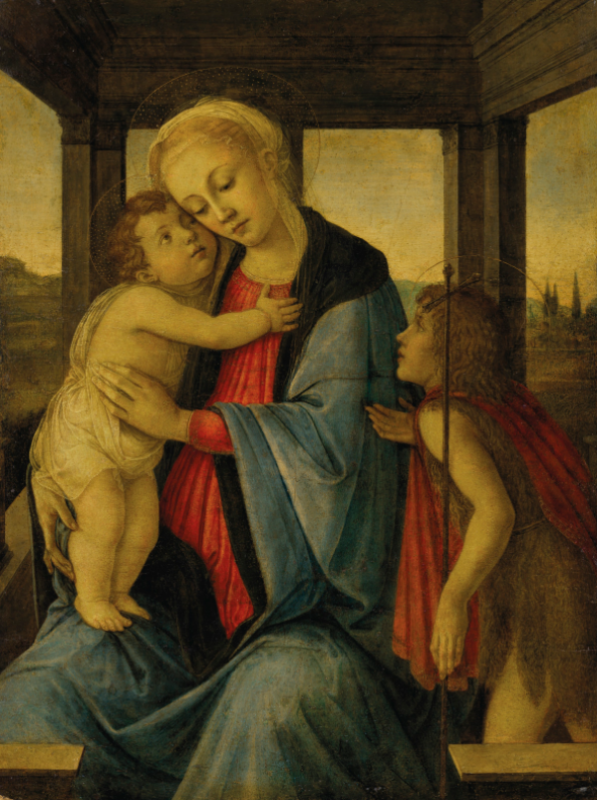 Sandro Botticelli, The Madonna and Child with the infant Saint John the Baptist. CHRISTIE'S
