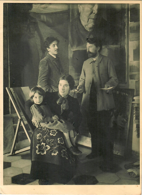 La Pazza, dipinto disperso fotografato nella casa di Balla in via Paisiello, 1908. Courtesy of Galleria Russo