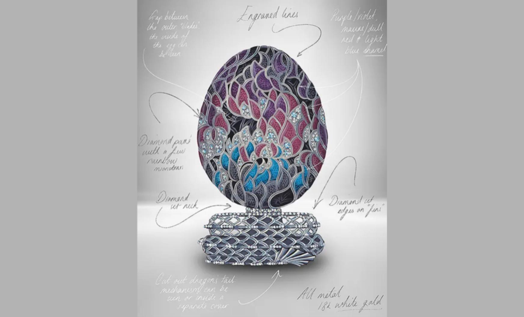 l'uovo Fabergé per il decimo anniversario de Il Trono di Spade