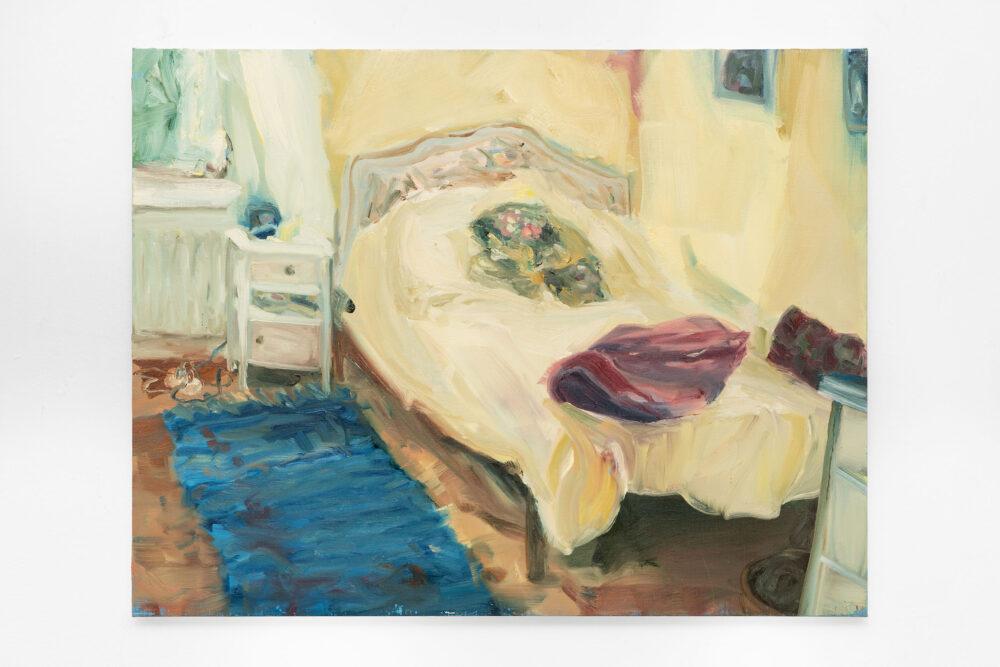 Westerlind, La camera di Pido Oil on linen, 120 × 120 cm. 2020