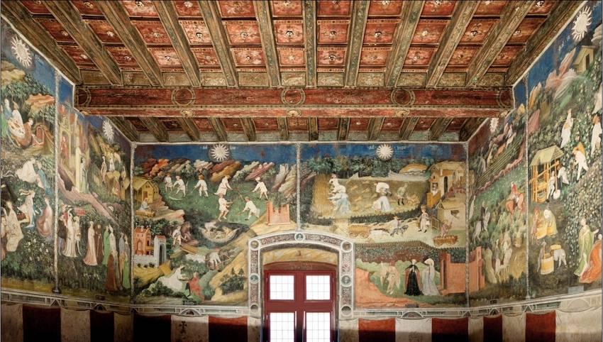Maestro Venceslao, Il ciclo dei mesi, inizi XV Secolo, Torre dell'Aquila, Castello del Buon Consiglio, Trento