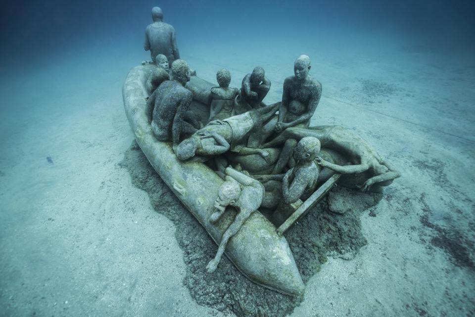 The Raft of Lampedusa, Lanzarote, Spain